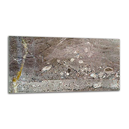 decorwelt   Küchenrückwand Spritzschutz aus Glas 80x40 cm Wandschutz Herd Spüle Küchenspritzschutz Fliesenschutz Fliesenspiegel Küche Dekoglas Textur Grau