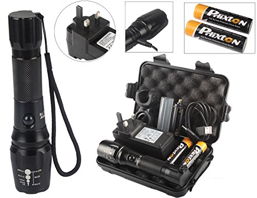 phixton USB Batería LED linterna...