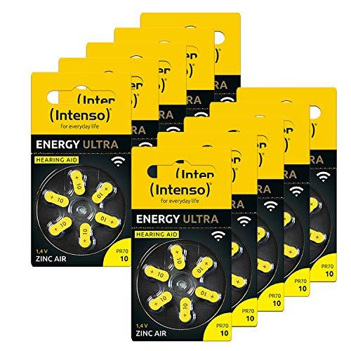 Intenso Energy Ultra PR70-60 batterie per apparecchi acustici, tipo 10, confezione da 6 pezzi, colore: Giallo