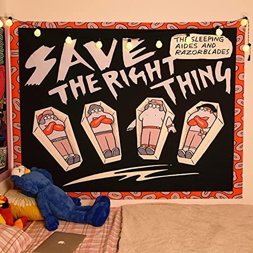 KHKJ Tapiz Colgante de Pared decoración de Dormitorio Manta Hippie Ilustraciones de Fondo Mural decoración Mural decoración A3 200x180cm