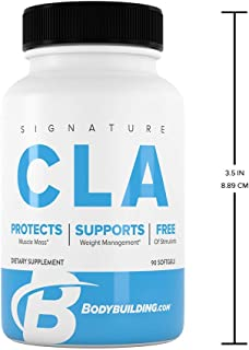 Bodybuilding Signature CLA Softgels   1,000 MG Fat Loss Supplement, Maintain Lean Muscle   90 Servings