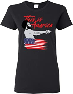 iQueen - The Worst Guys Childish Gambino This is America Hip-Hop T-Shirt Black
