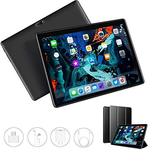 Tablet 10 Pulgadas 3GB RAM + 32GB ROM + Expandido 128G Android 9.0 Tablets Dual SIM 4G/WiFi Quad-Core 1.5 GHz Type-C OTG GPS Bluetooth PC Tablets - Soporte de Netflix Facebook 2020