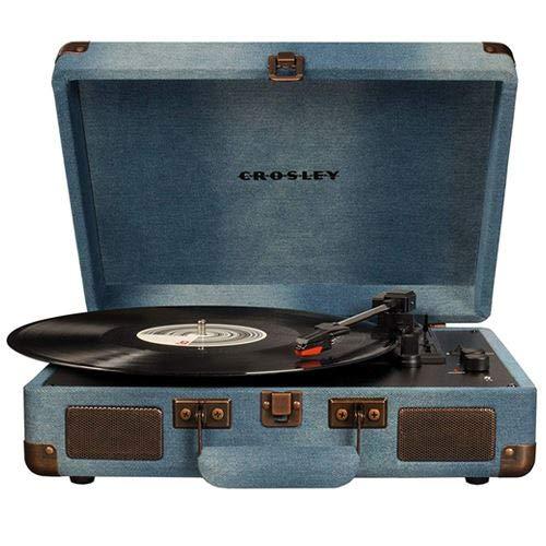 Crosley - Tocadiscos Portátil Deluxe BT Denim
