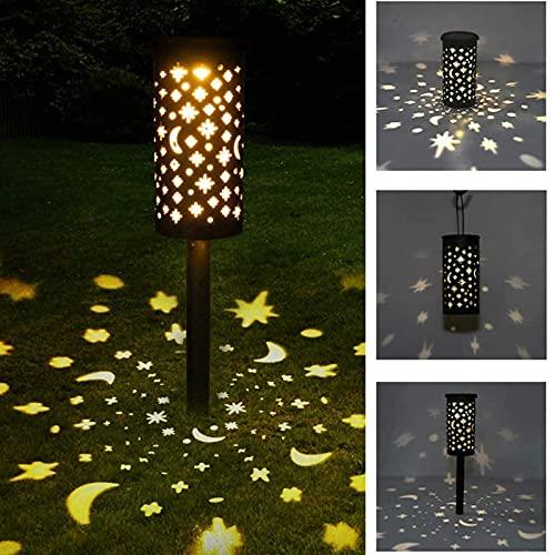 Clicked Luces Solares Jardín, IP44 LED Lampara Solares Jardín, Luz Solar de Césped Luces Solar de Decoración para Pasillo Jardín Patio Camino, 1Pcs