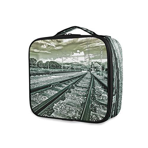 Outils Cosmétique Train Case Portable Stockage Trousse De Toilette Organisateur Maquillage Sac Train Track Voyage