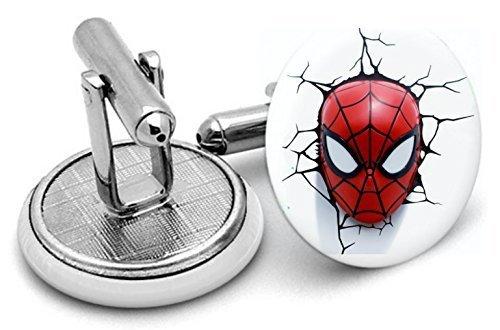 Spider Man Face – Superman – Boutons de manchette – Livré dans pochette cadeau