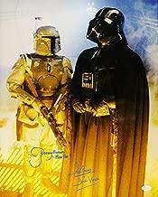 David Prowse & Jeremy Bulloch Autographed Star Wars 16x20 Darth Vader Boba Fett JSA