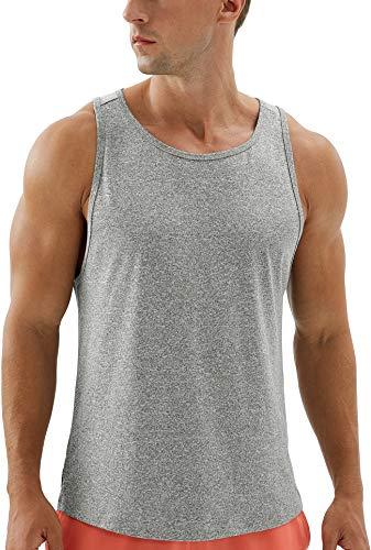 icyzone - Canott Cotone Smanicato Sport Allenamento Uomo Bodybuilding,per Corsa, Muscolo, Esercizio Fisico, Palestra -L-