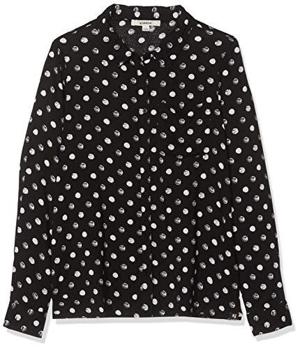Garcia Kids Mädchen G92432 Bluse, Mehrfarbig (Off Black 1755), 164 (Herstellergröße: 164/170)