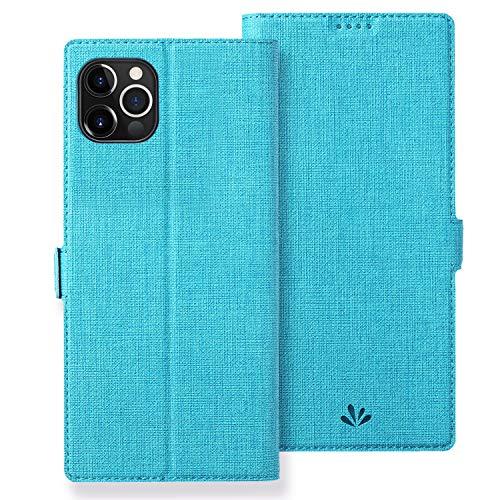 Astart iPhone 12 Mini Lederhülle PU Leder Klapphülle mit 2 Kartenfächer Magnetverschluss Standfunktion Full Cover Silikon Stoßfest Handyhülle für iPhone 12 Mini Schutzhülle Brieftasche (Blue)