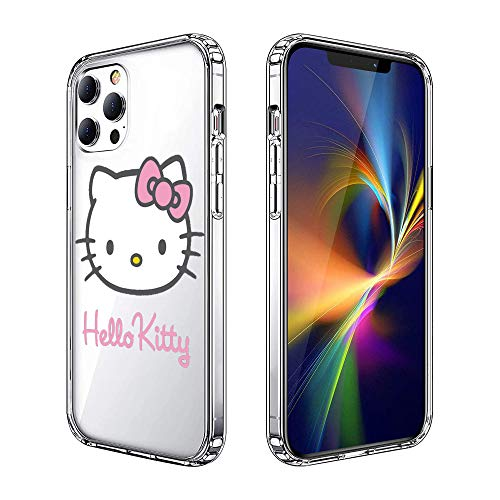 iPhone 12 Hülle iPhone 12 Pro Hülle Clear Hülle Cover iPhone Hülle (Hello-Kitty)