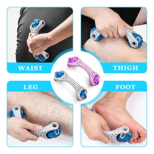 Muscle Roller Massager, Recredo Massage Ball Lacrosse Balls, Body Massage Sticks Tools for Relief Muscle Soreness,Cramping and Tightness,Help Legs and Back Recovery - Set of 2