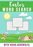 Easter word search: Happy Easter | Challenging Puzzle book For kids and adult | 60 puzzles with word searches and scrambles | Find more than 400 ... Character | Funny Gift for Friends, Family.