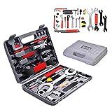 COSTWAY 44 TLG. Fahrrad Werkzeugkoffer, Fahrradwerkzeug Reparaturset, Multifunktionswerkzeug Set,...
