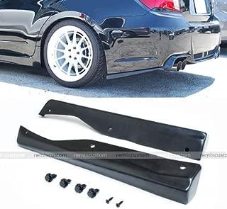 Remix Custom Rear Apron for 2011 2012 2013 Subaru Impreza WRX/STI Sedan PU Rear Bumper Lip Aprons