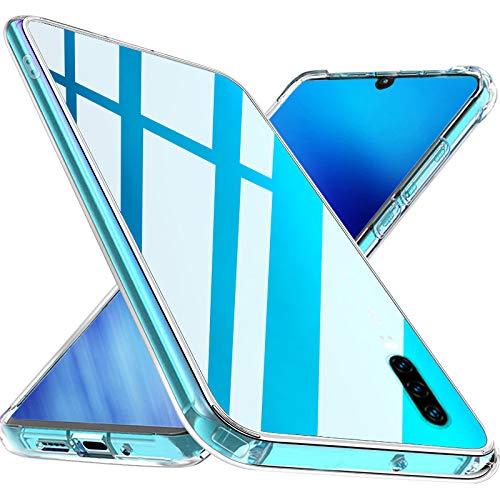 Wlife Kristallklart kompatibel med Huawei P30 fodral, transparent stötsäker anti-gul anti-repor tunn mobiltelefonfodral smal PC med TPU silikonram ett stycke transparent skyddsfodral Huawei P30 fodral