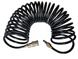 Recoil Air Hose Air Compressor Hose with Industrial Solid Brass Coupler and Plug 1/4 Inche...