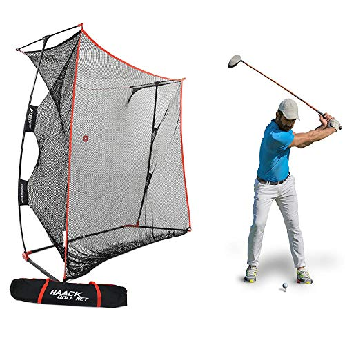 Rukket 9x7x3ft Haack Golf Net Pro | Practice Driving Indoor and Outdoor | Professional Golfing at Home Swing Training Aids | by SEC Coach Chris Haack (Haack Golf Net Pro)