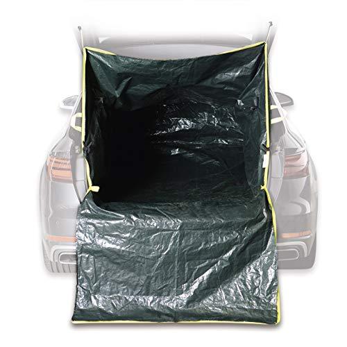 Hoberg Bolsa de transporte para maletero, para residuos de jardín, escombros y madera, tejido de polietileno resistente de 120 g/m², ajuste universal [capacidad de carga de 45 kg)