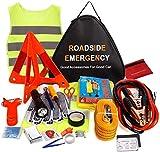 Sailnovo Kit Urgence Voiture Kit Securite Voiture Kit De Secour Auto Multifonctionnel 24 en 1