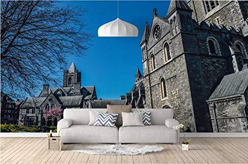 Personalizado de cualquier tamaño 3D Inglaterra Inglaterra Vista del castillo Sala de estar Tv Fondo Pared Decoración para el hogar Arte Wallpaper Mural