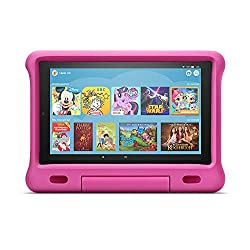 Fire HD 10 Kids Edition-Tablet |10,1 Zoll, 1080p Full HD-Display, 32 GB, pinke kindgerechte Hülle