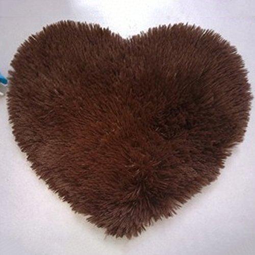 QHGstore A forma di cuore antisdrucciolevole molle Moretta tappeto Mat Carpet Tappetino coperta di zona