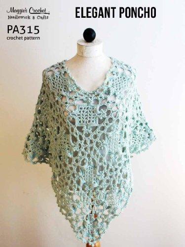 Crochet Pattern Elegant Poncho PA315-R (English Edition)