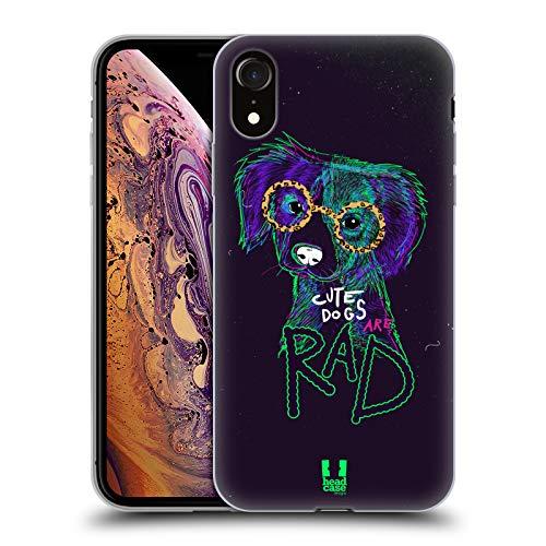 Head Case Designs Perros Animales de la Cadera Carcasa de Gel de Silicona Compatible con Apple iPhone XR