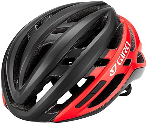 Giro Unisex– Erwachsene Agilis Fahrradhelm Road, Matte Black/Bright red, L (59-63cm)
