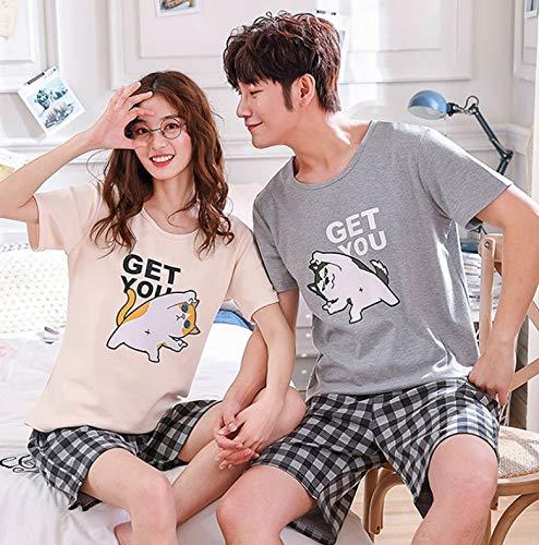 HoEOQeT Pijamas de primavera y verano para parejas, Shiba