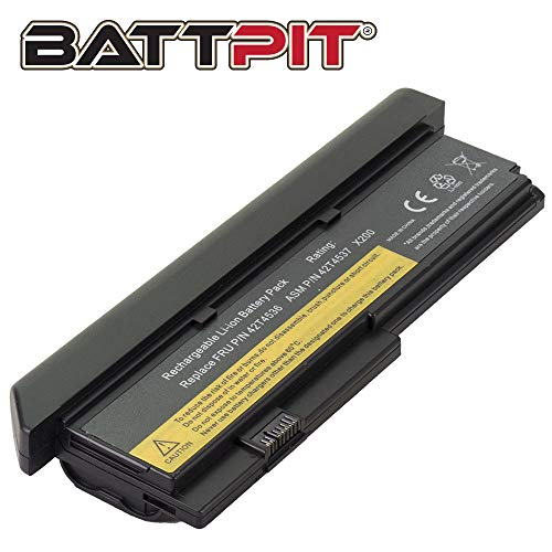 BattPit Laptop Battery for Lenovo 42T4536 42T4648 42T4649 42T4837 47T4647 ThinkPad X200 X200s X200si X201 X201i - High Performance [9-Cell/6600mAh/71Wh]