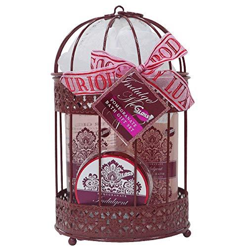 Coffret cadeau pour femme - Cage de Bain en métal rose doré - Collection Indulge me - Grenade
