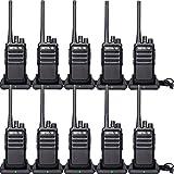 Retevis RT617 Walkie Talkie Recargable PMR 446 sin Licencia Two Way Radio 16 Canal Transmisores-receptores CTCSS/DCS VOX Escanear (Negro,5 Par)