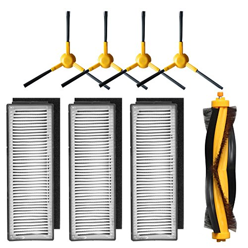 Zubehör-Set für Staubsauger Ecovacs Deebot M80, M80 Pro – 3 Filter, 4 Seitenbürsten & 1 Hauptbürste