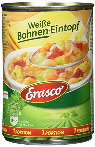 Erasco Weiße Bohnentopf, 6er Pack (6 x 400 g)