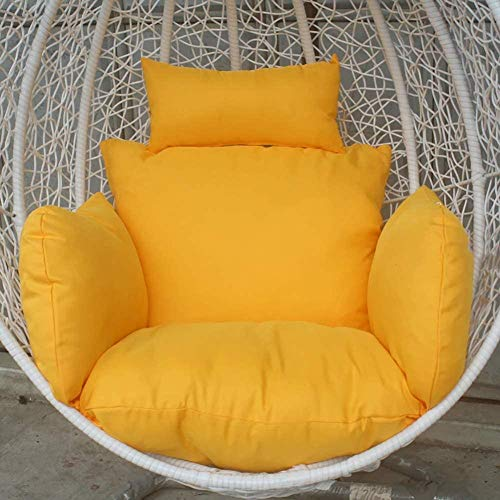 Furniture Hanging Nest Seat Cushions extra-comfortable Soft Removable Swing Wicker Chair Cushion Hanging Basket Cradle Cushion Navy Blue-Yellow Amazing