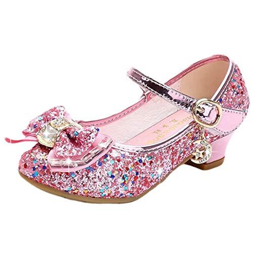Disfraz Princesa Zapatos Zapatillas de Lentejuelas Antideslizante Niñas Zapatos de Tacón Zapatillas...