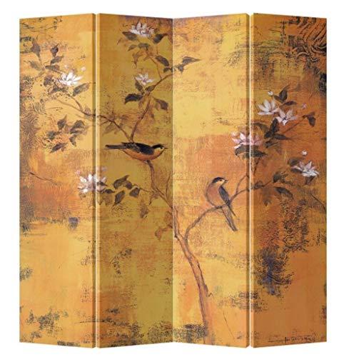 Fine Asianliving Paravent Raumteiler Trennwand Spanische Wand Raumtrenner Sichtschutz Japanisch Orientalisch Chinesisch L160xH180cm Bedruckte Canvas Leinwand Doppelseitig Asiatisch -203-161