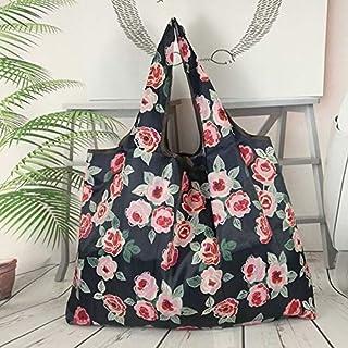Bochang折りたたみ買い物袋 防水エコバッグ 。おしゃれなマルチカラー セット 环保袋 两用 防水素材 大容量 可折叠 带厚度 (C色)