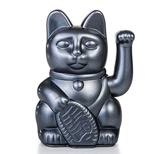 Lucky Cat Galaxy Winkekatze metallic grau