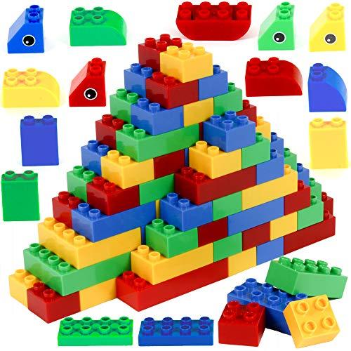 Brickyard Building Blocks 177 Pieces Large Building Block Toys for Children Ages 1.5 - 5, Bulk Block Set, Compatible with Duplo (177 pcs)