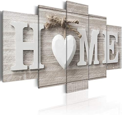 Love Sanctuary Large Canvas Print White Home Sweet Heart Modern Picture Wall Art Decor Painting product image