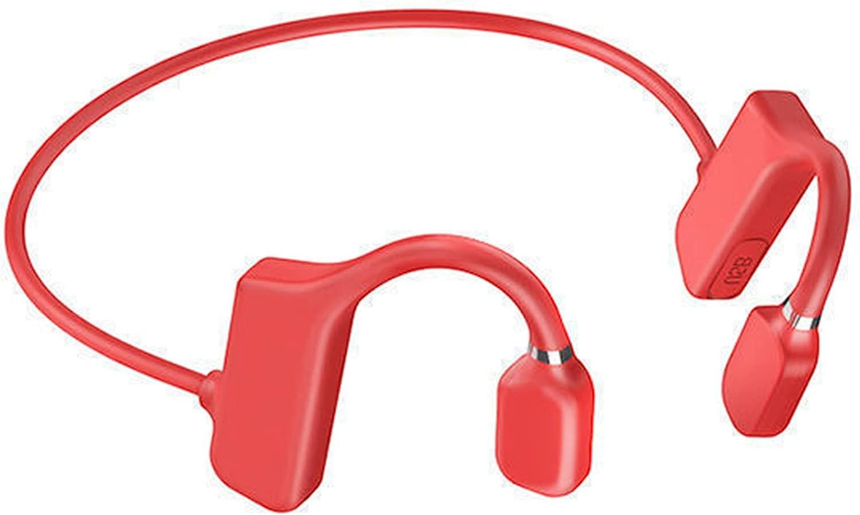 OCUhome Bone Conduction Headphones, Open Ear Bluetooth 5.1 Headphones, Ear Hook Bone Conduction Earphone IPX5 Waterproof Wireless Headphone for Sports Red