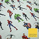 Avengers Iron Man Hulk Spiderman Black Widow Print 100%