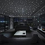 NszzJixo9 Glow in The Dark Star Wall Stickers 104Pcs Round Dot Luminous Kids Room Decor Sofa Background Decoration Painting Clean and Dry Surface