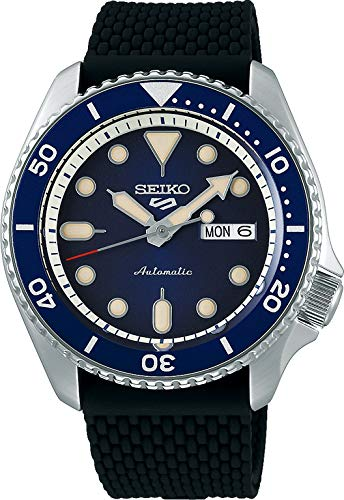 Seiko 5 Suits Herren-Uhr Edelstahl mit Silikonband SRPD71K2