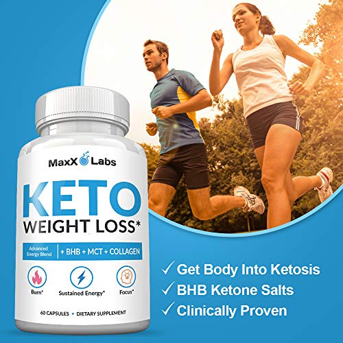 Keto Diet Pills - New - Exogenous Ketones Supplement Advanced Weight Loss for Women & Men with Best Ketogenic Fat Burner Beta Hydroxybutyrate BHB Salts to Keto Burn Fat - Easy to Swallow Capsules 5