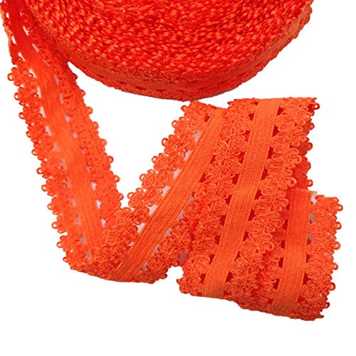 Kleur band snap snap kroon 5Yards Vouw DIY haaraccessoires Spandex Meer,oranje L23